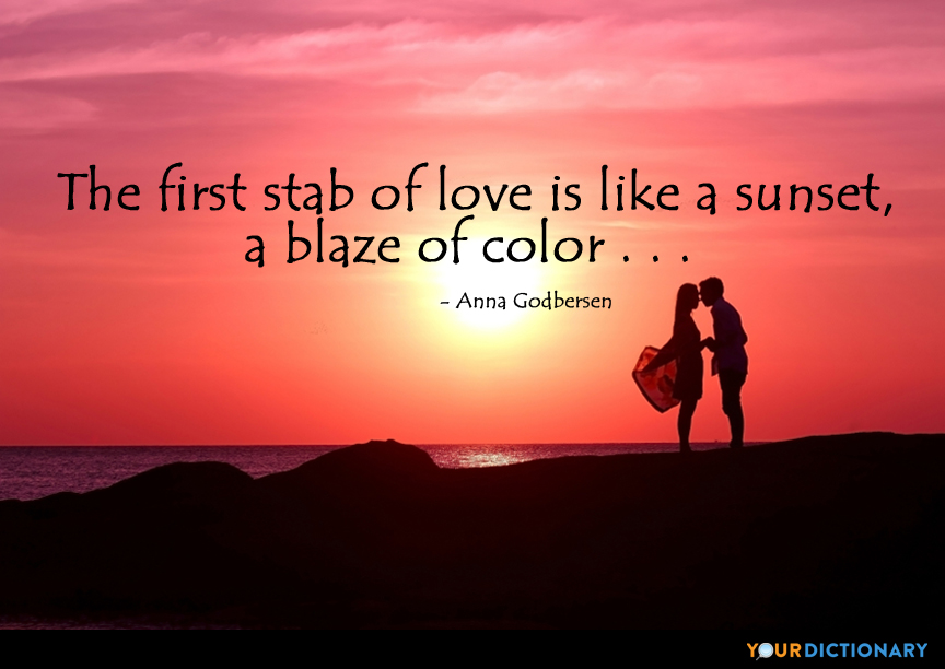 Love Quotes For Him Sunset : Sunset Quotes About Yourdictionary