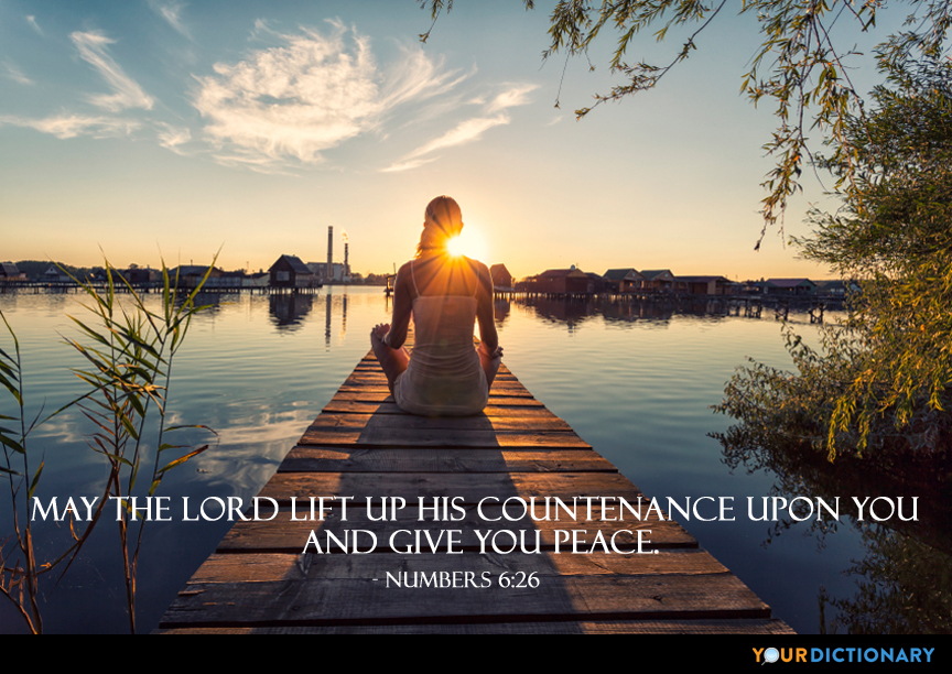 May The Lord Lift Up His Countenance Upon You Bible Old
