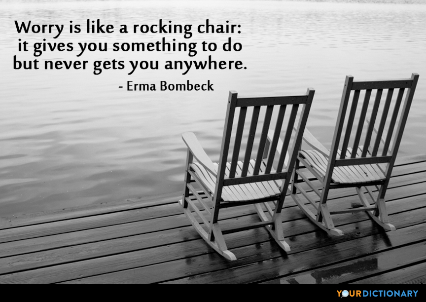 Image result for worry is like a rocking chair