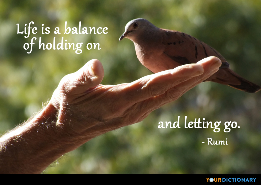 Life Is A Balance Of Holding On And Lett Jalal Al Din