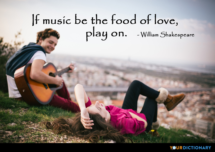 If Music Be The Food Of Love Play On William Shakespeare Quote