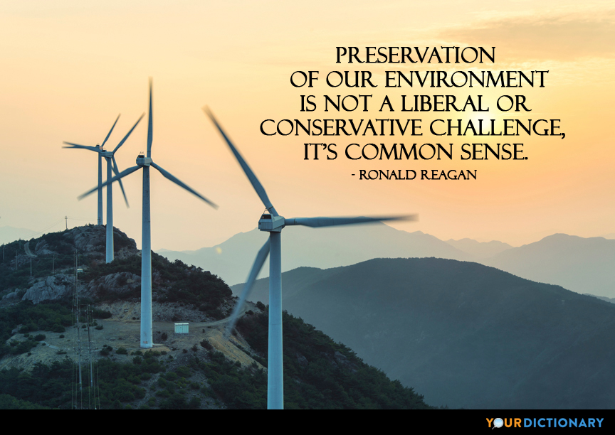Preservation Of Our Environment Is Not A Liberal Or C Ronald Stunning Global Warming Quotes