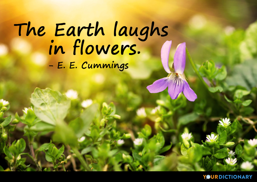 The Earth Laughs In Flowers E E Cummings Quote