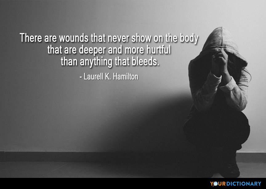 there are wounds that never show on the body th laurell k